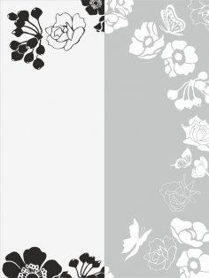 Flower Sandblast Pattern CDR File