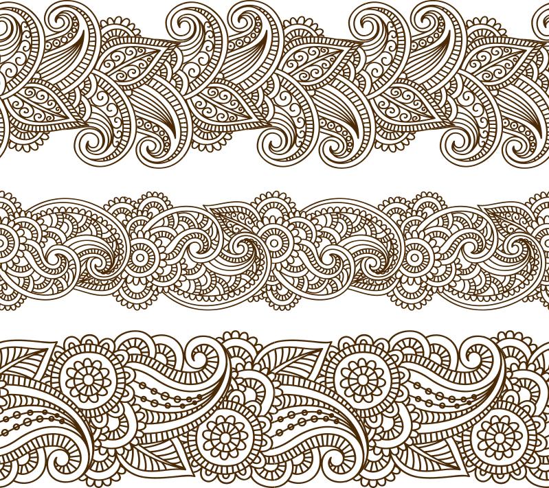 Mehndi vector pattern Free Vector