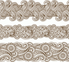 Mehndi vector pattern CDR File