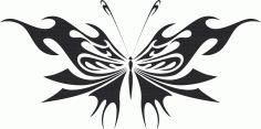 Tribal Butterfly Vector Art 14 DXF File