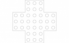 Marble Solitaire dxf File