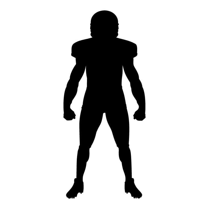American Football Player Standing dxf File