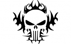 The Punisher Tribal 24×24 dxf File