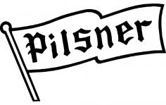 Pilsner Flag dxf File