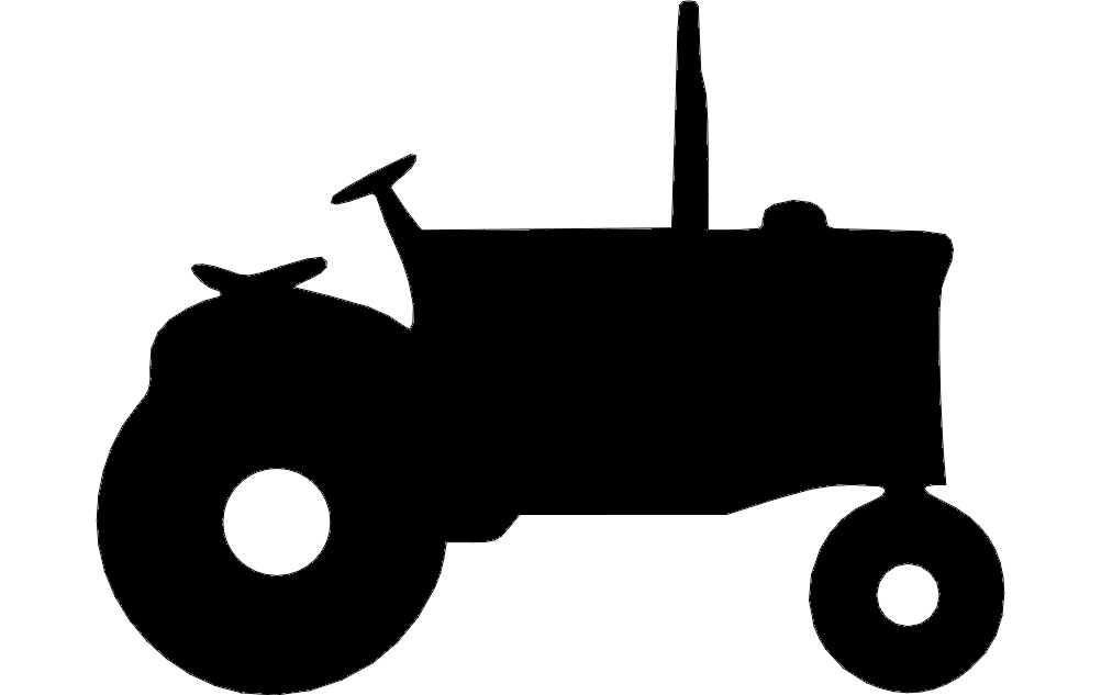 Tractor Silhouette dxf File