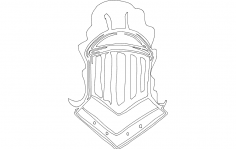 Knight Helmet dxf File