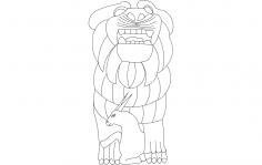 Palmyra Lion of al-Lat dxf File