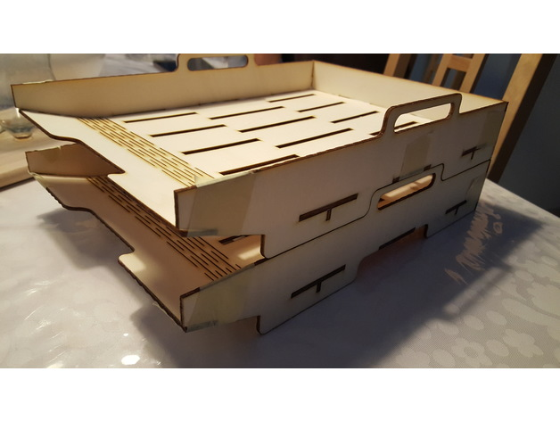 A4 Lade (Stackable Trays) dxf File
