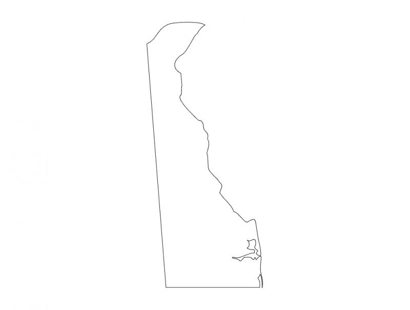 Delaware State Map (DE) dxf File