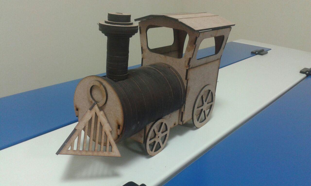 Laser-Cut Locomotive Wooden Toy DXF File