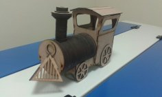 Laser-Cut Locomotive Wooden Toy DXF File