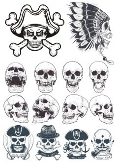 Skull Vectors Collection Free Vector
