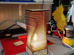 Wooden Nightligh Table Lamp Laser Cut DXF File