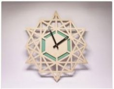Clock Laser Cut CDR File