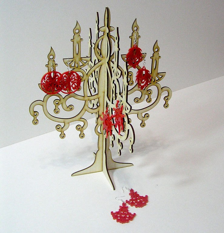 Candlestick Jewelry Hanger Laser Cut CDR File