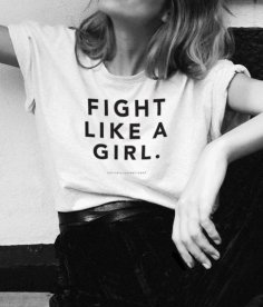 Fight Like A Girl Art Free Vector