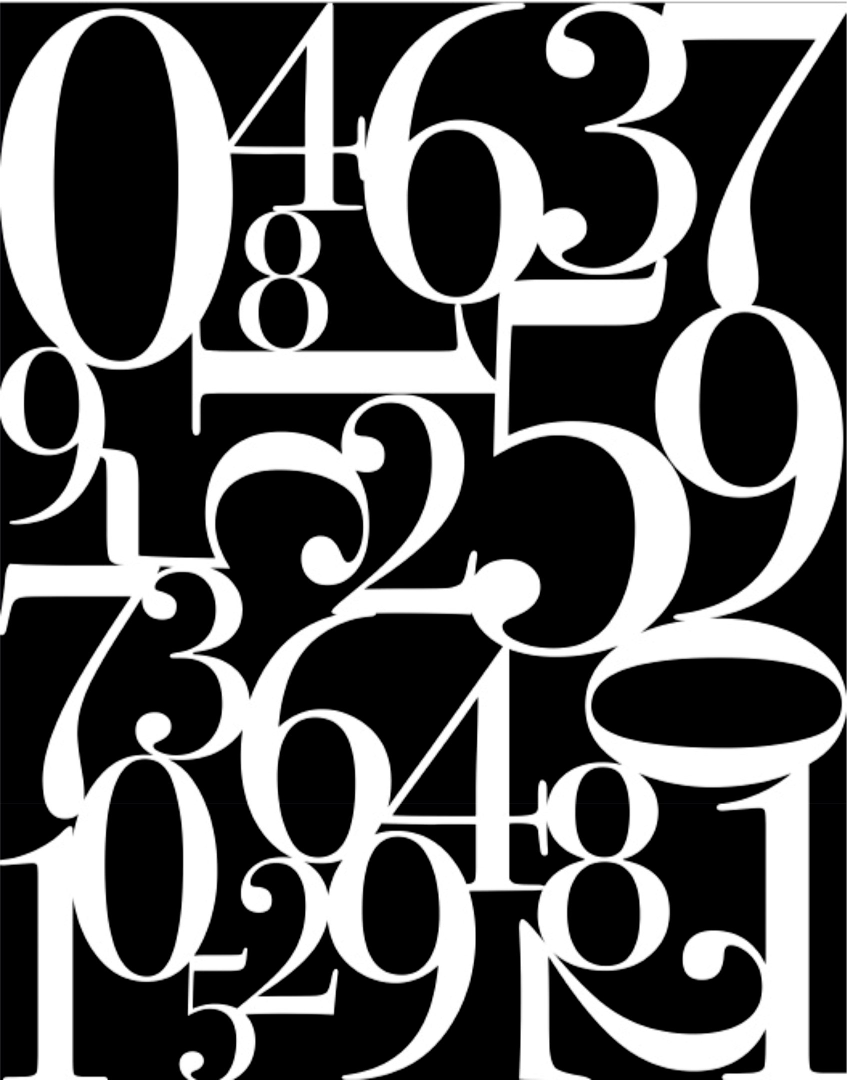 Abstract Number Wall Art Free Vector