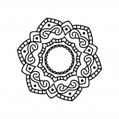 Mandala Design DXF File