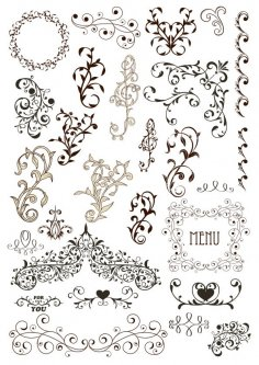 Vintage Decor Design Free Vector