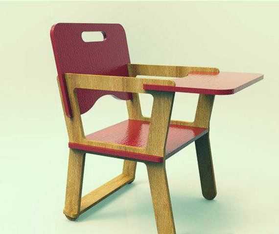 Doll High Chair 6mm Free Vector