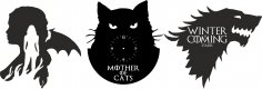 Mother Of Cats Free Vector