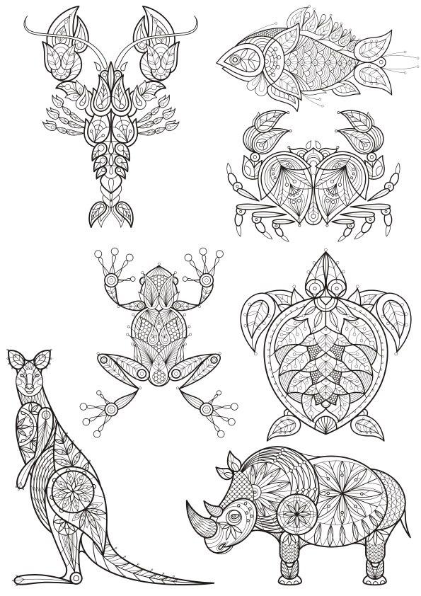 Decor Animals Vector Set
