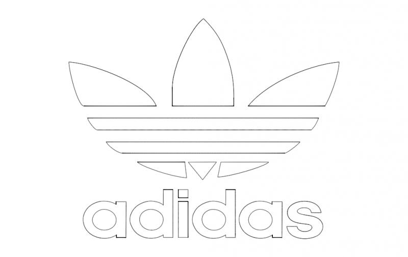 Adidas Logo dxf File