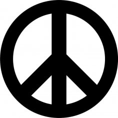 Peace Sign Pacific Vector Free Vector