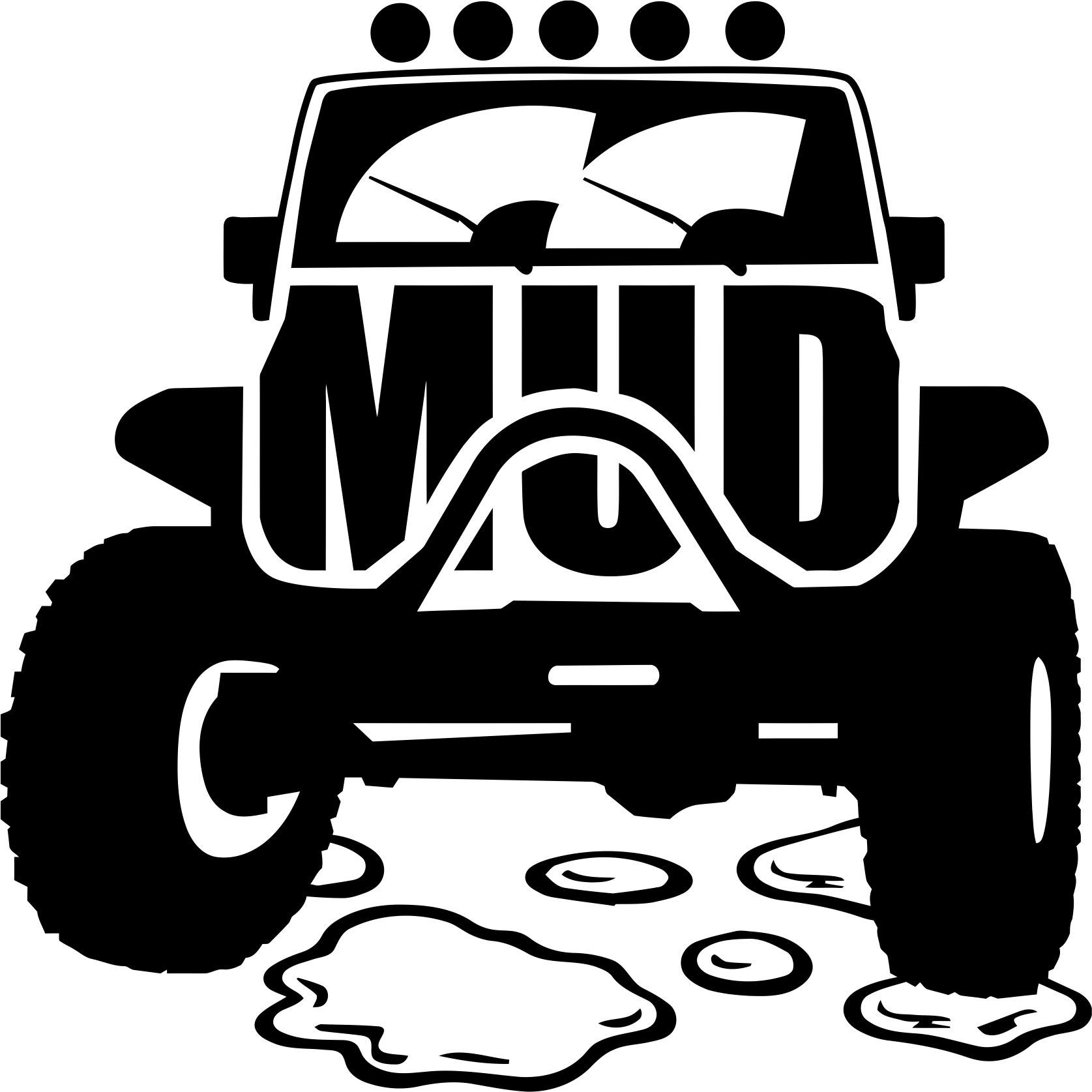 Mud Offroad Sticker