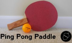 Ping Pong Paddle Blade dxf File