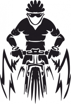 Mountain Bike Vector CDR File