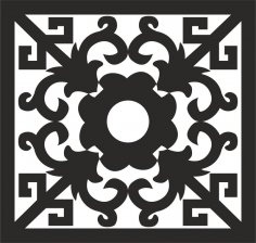 Ornamental Pattern dxf File