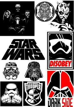 Star Wars Silhouette Vector Pack Free Vector