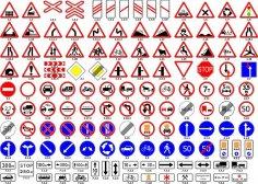 Road Sign Vector Set Free Vector