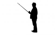fishing 001 dxf File