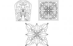 Flower Designs dxf File