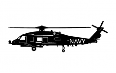 Navy Helicopter dxf File