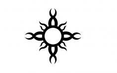 Tribal Sun dxf File