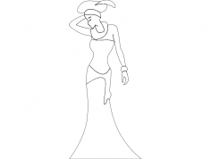 African Lady dxf File