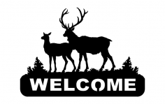 Deer 2 Welcomes dxf File
