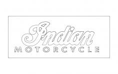 Indian Motorcycle Logo dxf File