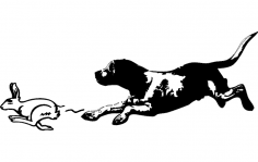 Beagle Rabbit dxf File