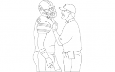 Cowher And Ben Lineart dxf File