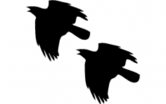 Crow Flying dxf File