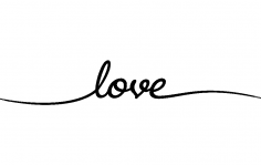 Love Word dxf File