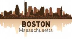 Boston Skyline Free Vector