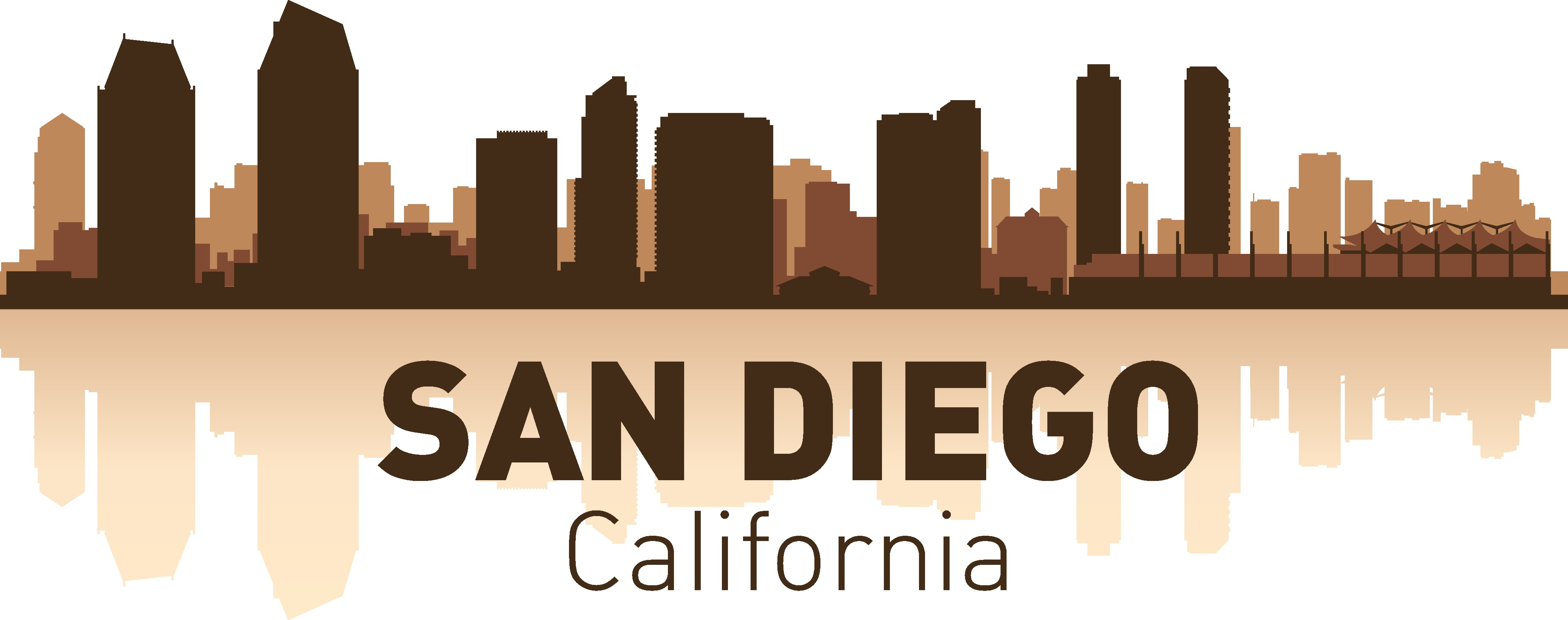 San Diego Skyline Free Vector