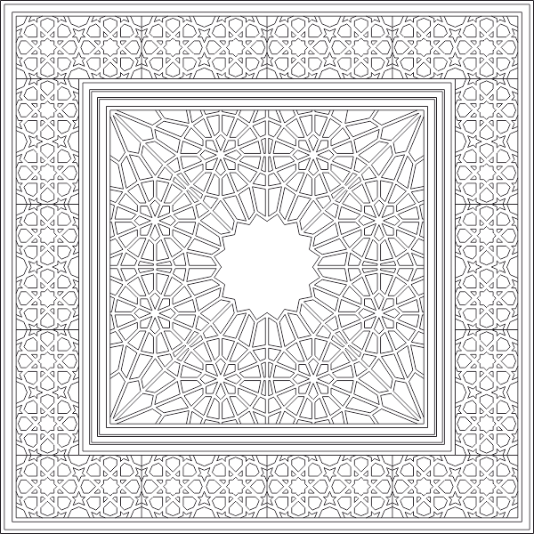 Islamic Pattern 2D DWG File
