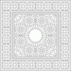 Islamic Decorative Patterns DWG Files Free Download (10 Free