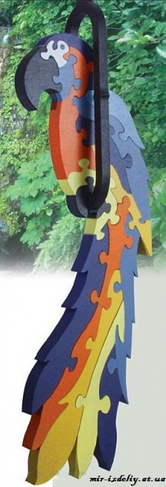 Hanging Macaw Puzzle PDF File